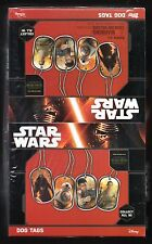 Star Wars The Force Awakens Dog Tags 2015 New Factory Sealed Box 24 Packs