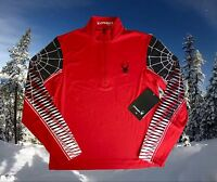 Spyder Mens Small Webstrong T-Neck Base Layer Ski Shirt Top Nwt $99