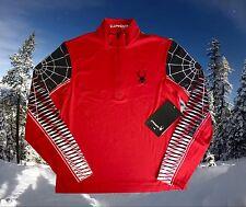 Spyder Mens Medium Webstrong T-Neck Base Layer Ski Shirt Top Nwt $99