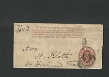SOUTH AFRICA-CAPE OF GOOD HOPE-189?-WRAPPER-1 p BROWN-EXTERNAL -GERMANY