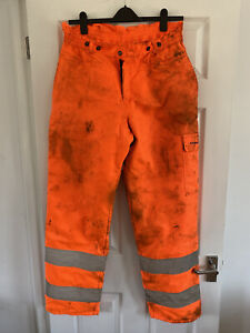 FRANCITAL CHAINSAW HI-VIZ TROUSERS XL