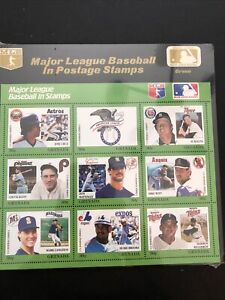 Grenada St Vincent Sealed MLB Topicals- Lot A-68215