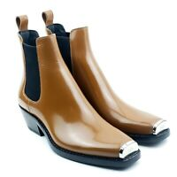 Calvin Klein 205w39nyc x Raf Simons Leather Chelsea Boots Tan Womens 9.5 Men 6.5