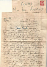 England 1955 cover & letter Donald T Evans Willesden to actress Paula Raymond
