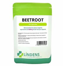 Lindens UK GMP Certified Super Strength BEETROOT EXTRACT 3500mg - 50 Capsules
