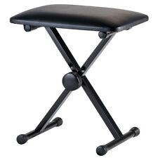 Keyboard Piano Bench Drum Stool Seat Adjustable Folding X Frame Strong Organ