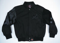 Tampa Bay Lightning Jeff Hamilton Twill Leather NHL Hockey Varsity Jacket Mens L