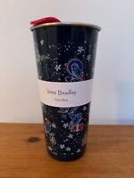 New Vera Bradley Stainless Steel Travel Mug 16 oz. Holiday Owl