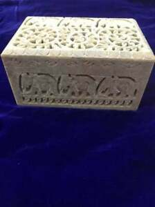 Marble Handcrafted Jewellery Boxes Traditional Design