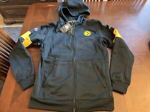 Nike Pittsburgh Steelers On Field Full Zip Hoodie Jacket Size Medium AO4136-010