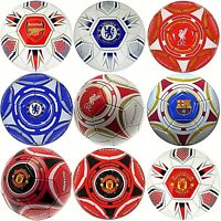NEW OFFICIAL CLUB FC ADULT SIZE 5 CRESTED FOOTBALL SPORTS SOCCER MATCH BALL GIFT