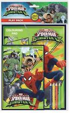 Spiderman sinister 6 play pack, coloration pad avec crayons