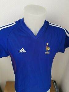 maillot de football Equipe de france taille xs saison 2002  ADIDAS vintage