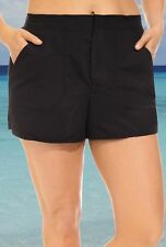 Size 14 Women's Chlorine Resistant Black Swim Board Cargo Short