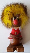 Teak? Figur Danish Design Troll Gnom Skandinavien Kunsthandwerk gelbhaarig 60er