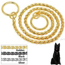 Choke Chain Training Dog Collars Snake P Choker Pet Show Collar 2 Colors 3 Sizes