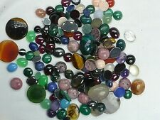 MIXED LOT LOOSE SEMI PRECIOUS CABOCHON STONES FOR JEWELLERY MAKING AGATE ETC
