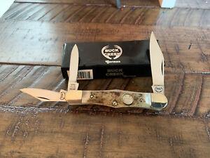 BUCK CREEK STAG WHITTLER KNIFE GERMANY UNUSED w/BOX