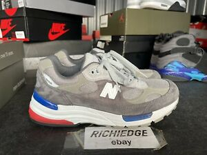 New Balance 992 Grey Blue Red M992AG Size 7 VNDS 100% Authentic