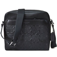 NWT Coach Charles Camera Bag in Signature Leather 28455 Antique Nickel/Black