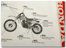 GENUINE HONDA 85-87 XR80R XR100R DEALER SHOP SERVICE REPAIR MAINTENANCE MANUAL