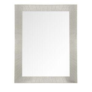 Stylish Wall Mounted Glass Mirror Sahara light Wood Effect Frame 60x50cm
