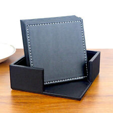 6Stk. Leder Untersetzer Coasters Glasuntersetzer für Tasse Schüssel Geschirr Set