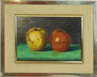 B2-088. NATURE MORTE DE FRUITS. HUILE SUR TOILE. SIGNÉ ALEJANDRO VILLA. 1992.