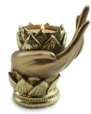 Buddha Yoga Mudra Candle Holder Lotus Gesture Hand Shape Meditation Relaxing