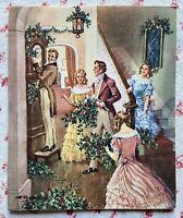 Vintage UNUSED Charles R. Thomson Christmas Victorian Family Music Greeting Card