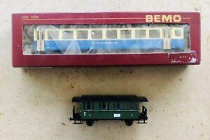 Bemo 3267 327 H0m Schmalspur MOB B 207 Personenwagen, 2.Klasse, Topzustand OVP