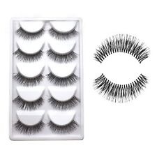 5Pairs Natural Sparse Cross Eye Lashes Extension Makeup Long False Eyelashes Hot