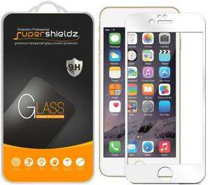 Supershieldz Full Cover Tempered Glass Screen Protector for iPhone 6 / 6S -White