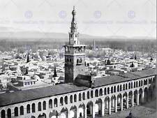 GENERAL VIEW MINARET BRIDE DAMASCUS HOLY LAND SYRIA OLD BW PRINT 798BW