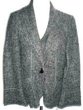 KS Selection TK Maxx charcoal grey wool blend jacket UK 14-16 new