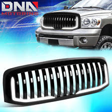 FOR 2006-2009 DODGE RAM TRUCK GLOSSY VERTICAL STYLE BUMPER GRILLE W/U-LED DRL