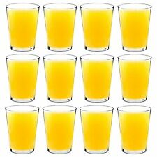 Plastic Tumblers / Hi Balls Outdoor Strong Dining Drinking Cups Glasses x12