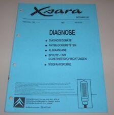 Werkstatthandbuch Citroen Xsara Diagnose ABS Klima Wegfahrsperre Airbag 09/1997!