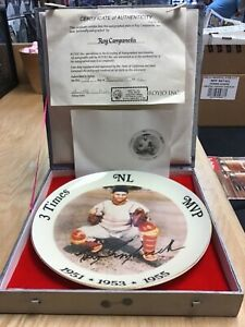 Roy Campanella Autographed Plate #153 With Original Box & Cert of Authenticity