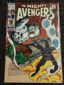 Mighty Avengers #62 SILVER AGE 1st Man-Ape M'Baku Black Panther Marvel 1969