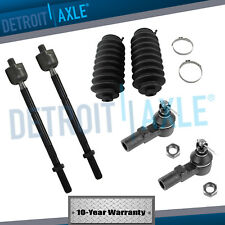 New 6pc Kit: Front Inner & Outer Tie Rod Ends + Boots - Tacoma 2WD No PreRunner