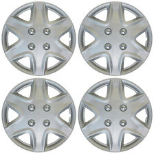 """NEW 4 pc Set Hub Cap ABS Silver 14"""" Inch Rim Wheel Hubcaps Cover Covers Caps"""