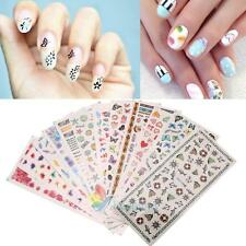 12pcs 3D DIY Nail Art Sticker Decals Tips Stickers Water Transfer Decoration A