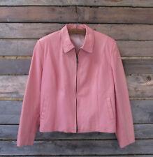Women's Faux-Leather Jacket Coats Outerwear Pink Motorcycle Zipper Vintage Tops