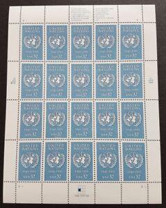 USA 1995 United Nations 50th Anniversary 1v x20 Stamps Full Pane Mint NH