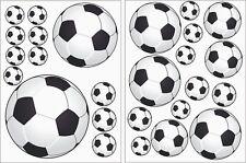 Wandtattoo Fußbälle Wandsticker Fußball 25 Stück 2 Bögen Kinderzimmer Aufkleber