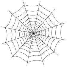 Sticker Déco XXL Décoration Halloween Toile d'araignée (35x35 cm à 60x60 cm)