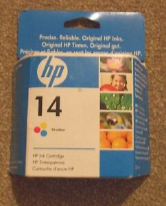 HP 14 TRI COLOURED ORIGINAL HP INK CARTRIDGE (NEW & SEALED) FOR 1160-7100-D100