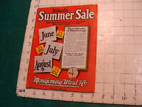 vintage Catalog: 1925 Wards Summer Sale Montgomery Ward co. 124 pgs, light wear