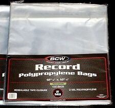 "1000 RESEALABLE LP OUTER SLEEVES High-Quality Ultra-Clear 12"" Vinyl Album Covers"